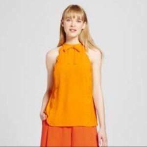 Victoria Beckham Target Marigold Scalloped Top L